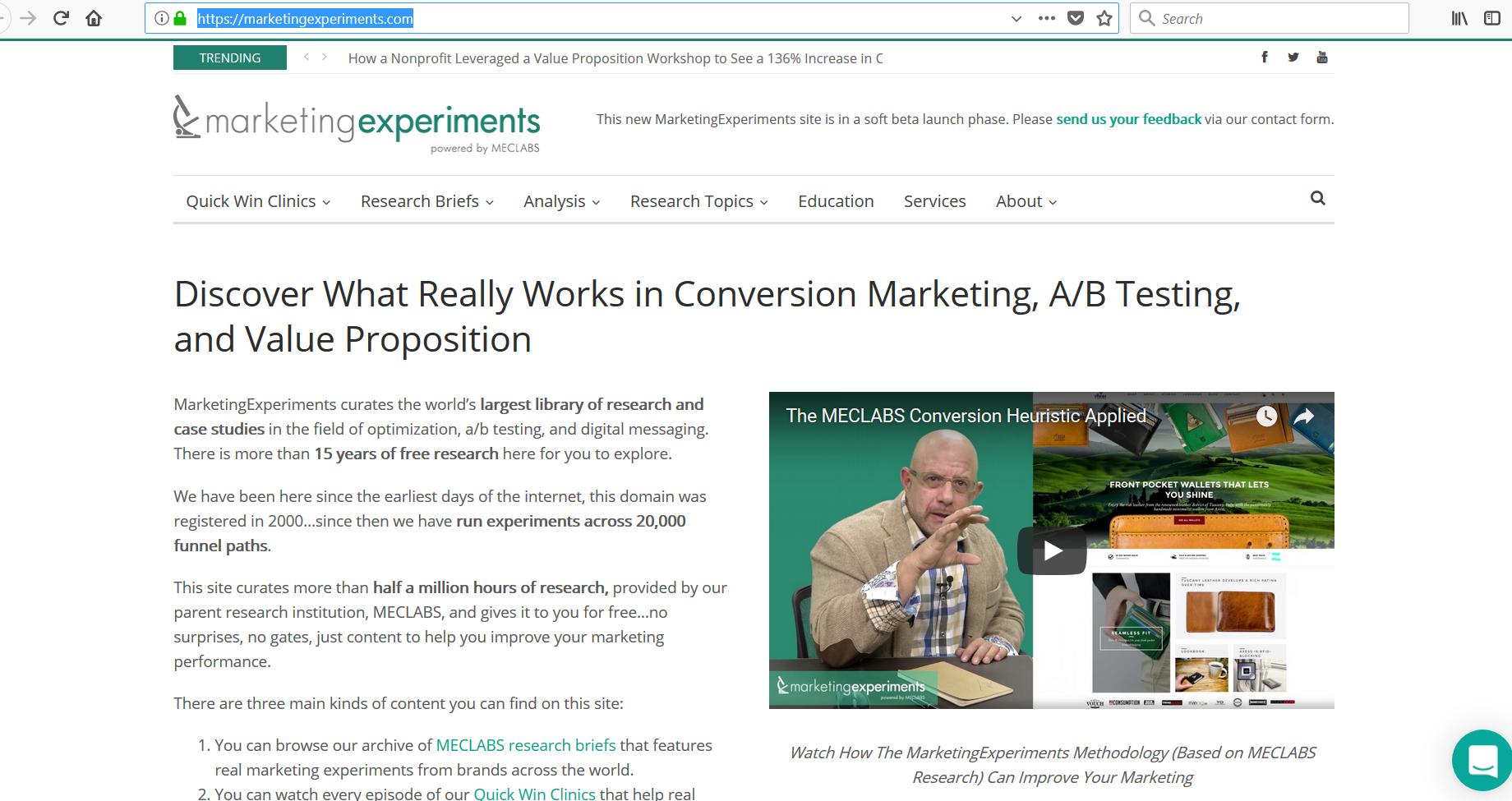 معرفی سایت برای مطالعات بازاریابی