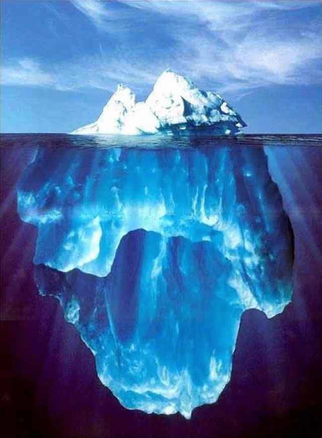 کوه یخ و استراتژی تولید محتوا