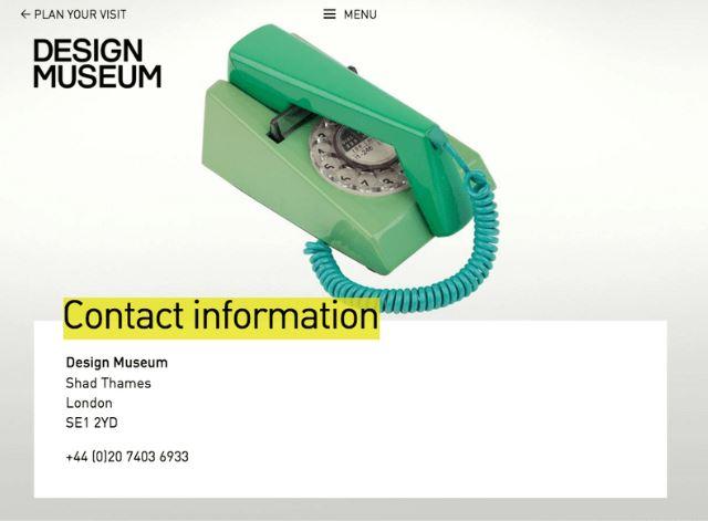 design museum/contact